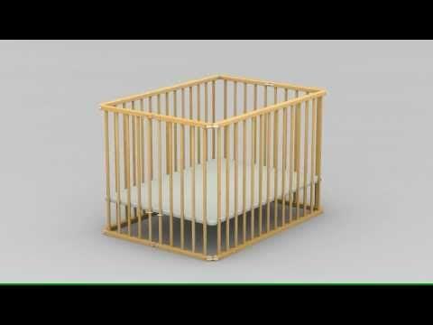 Parc Pliant et Réglable - T2709 - Ateliers T4 - YouTube