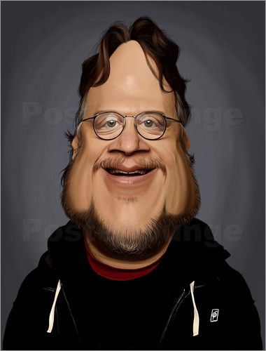 Rob Snow | caricatures - Guillermo Del Toro art | decor | wall art | inspiration | caricature | home decor | idea | humor | gifts
