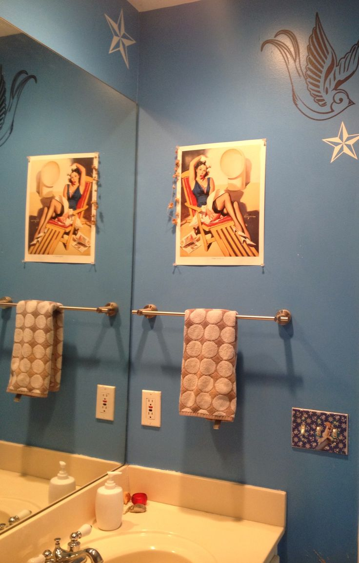Pinup Sailor Inspired Bathroom