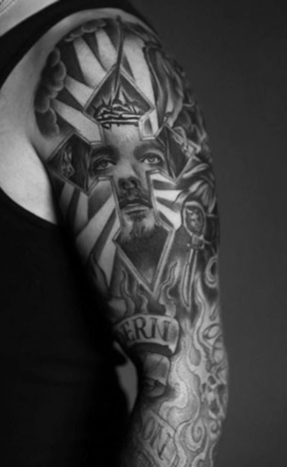 Brantley Gilbert's arm