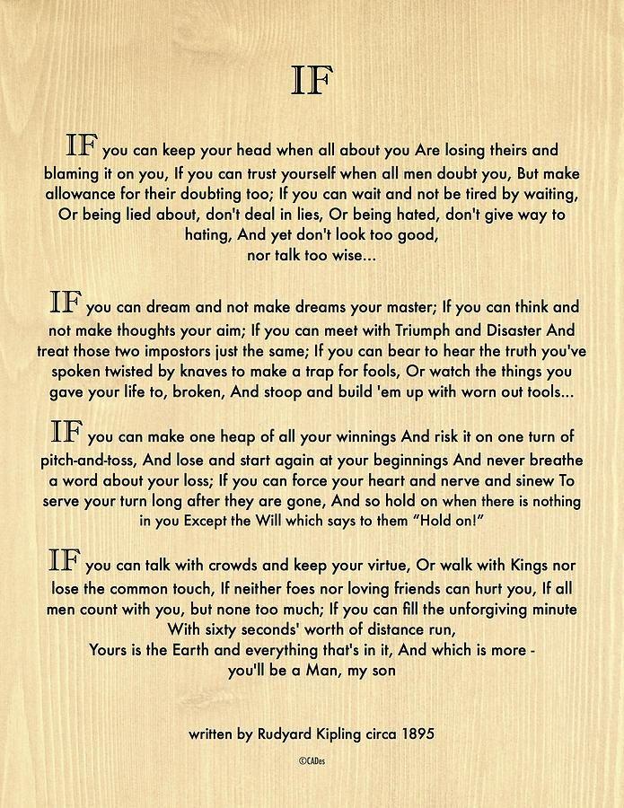 Desiderata Poem Printable Pdf With Images If Rudyard Kipling