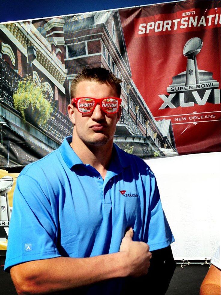 Rob Gronkowski ESPN NFL GRONK posing, GRONK wearing Sports Nation sunglasses, GRONK = AWESOMENESS!!