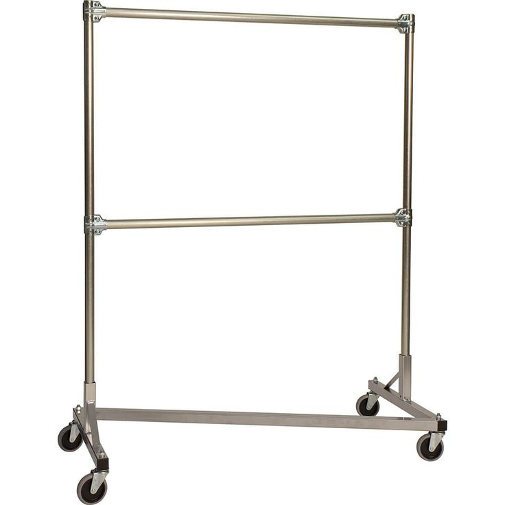 Not this double rack - built with two row construction, with one on top of the other so that the full weight is centered on the wheels. Made in United States by Quality Fabricators - www.deiequipment.com