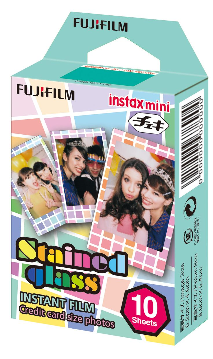 Instax mini film stained glass