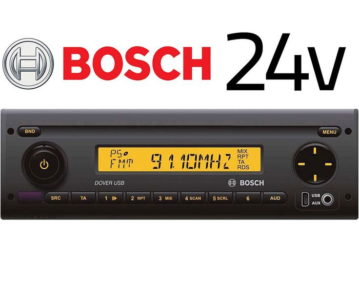 details about bosch dover usb40 multimedia 24v car radio. Black Bedroom Furniture Sets. Home Design Ideas