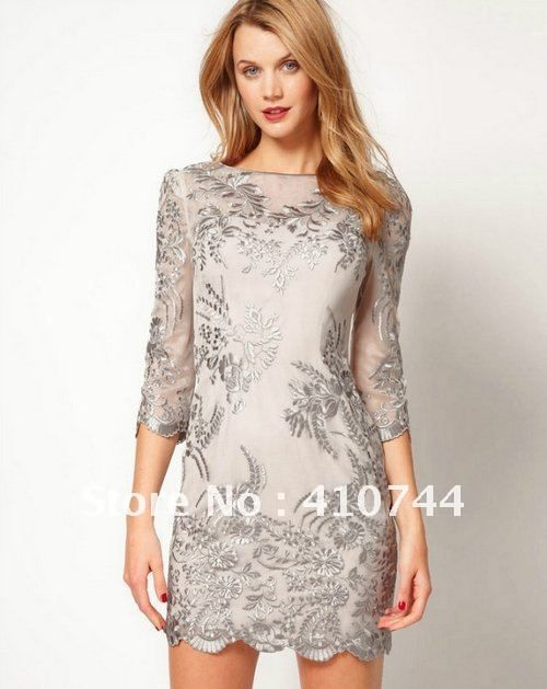 Aliexpress.com : Buy Newest fashion short sleeve evening dresses Embroidery Patry dresses UK Size 8 10 12 14 16 free shipping! from Reliable evening dresses suppliers on Fashion Lady store