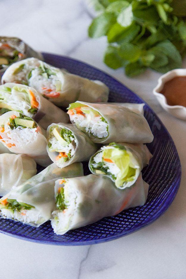 Avocado Shrimp Spring Rolls | 36 Springtime Recipes Perfect For Any Picnic