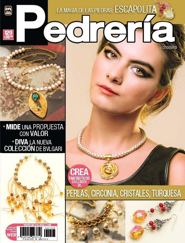 Revista Pedrería y Chaquira no. 129 - Crea collares de Perlas, Circonia, Cristales, Turquesa - Formato Impreso