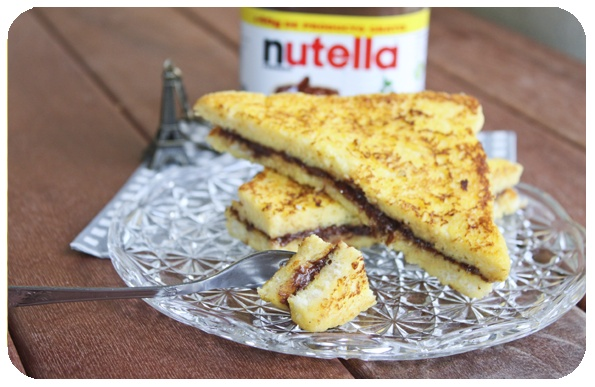 tostada francesa - nutella stuffed french toast.