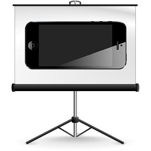 Turn your IPhone into a Projector -  will have to try this