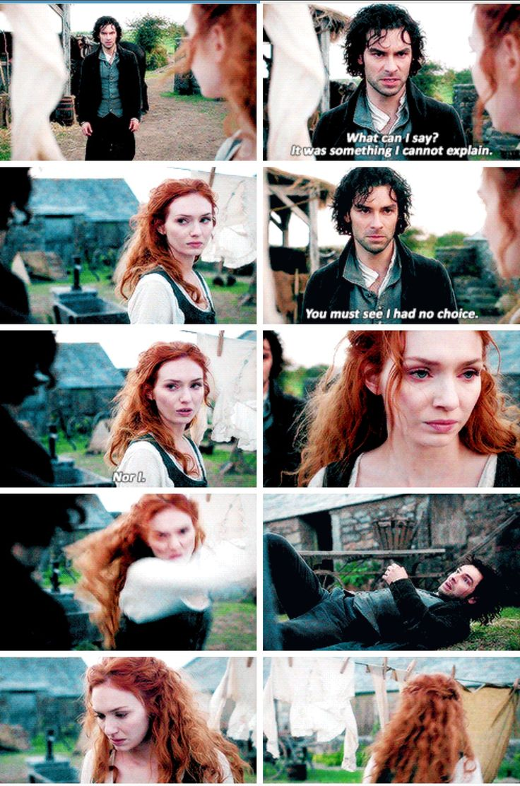 """Nor I"" - Demelza and Ross #Poldark ((He had it coming!!))"