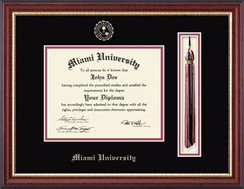 11280705 Double-Mat Diploma Frame W/tassel (newport) | Miami University Bookstore
