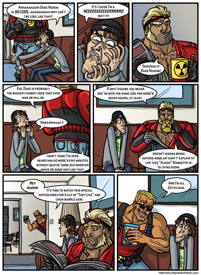 Who's to say Duke can't have hobbies? The punchline is machismo Funny Comic