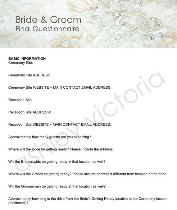 10 best Photography Contracts/Questionaires images on Pinterest - wedding spreadsheet google docs