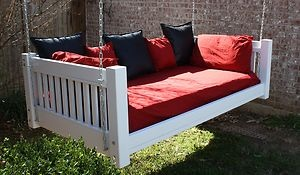 Brand New Painted Traditional Daybed Swing Twin Mattress Swinging Day Bed Swings | eBay