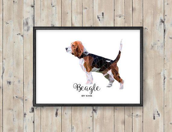 BEAGLE dog printable. Hunting Beagle DOG by KeepMakingSmiles