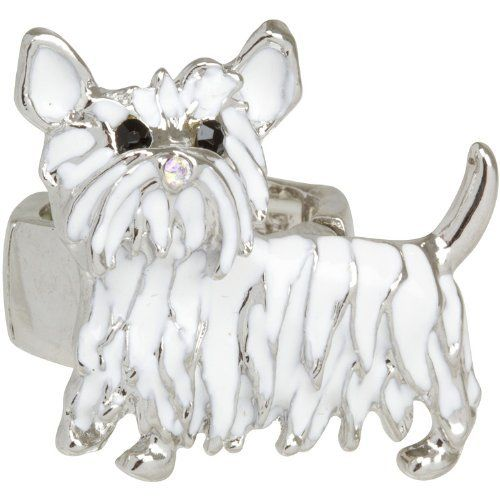 Heirloom Finds Adorable White Enamel Westie Dog Ring Heirloom Finds. $16.99. This adorable westie dog ring is a pure delight!. Great gift for the dog lover!. Ring stretches to fit sizes 7 to 9. A conversation piece for everyday wear!. Makes a Great Gift. Arrives Gift Boxed!. Save 51%!