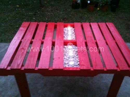 Garden pallet table | 25+ garden pallet projects