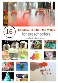 16 Christmas science activities for preschoolers that are hands-on and fun! #christmas #preschoolSTEM