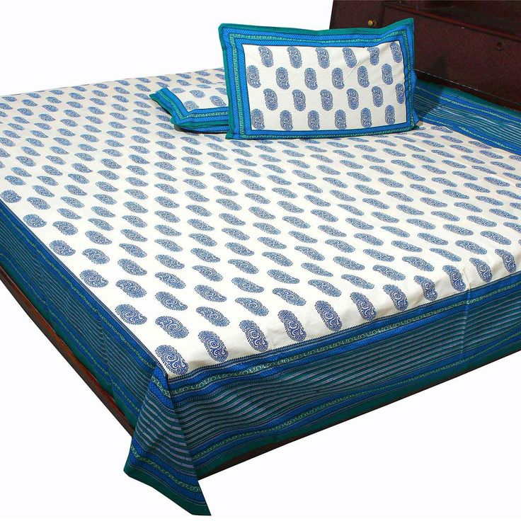 Buy Bed Sheets Online On SilkRute, Hand Printed Floral Print Cotton Double  Bedsheet, Designing Bedsheet,