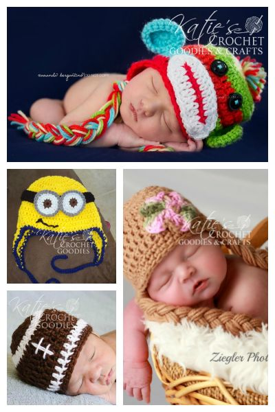 Adorable free crochet patterns from Katie's Crochet Goodies