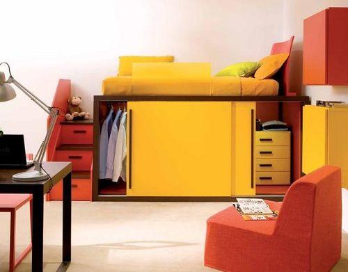 Prácticos y Sencillos Muebles para Dormitorios de Niños y Jóvenes