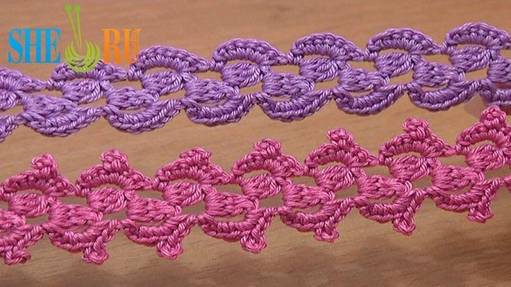 Crochet Lace Braid Ribbon Tape Tutorial 31 3-Double Crochet Cluster
