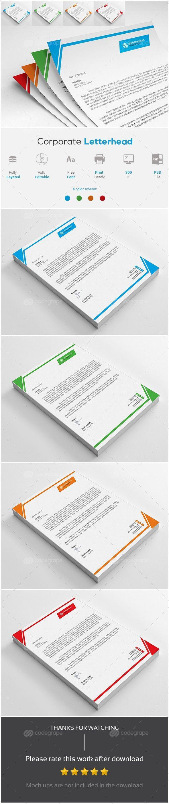 Corporate Letterhead - http://www.codegrape.com/item/corporate-letterhead/8106