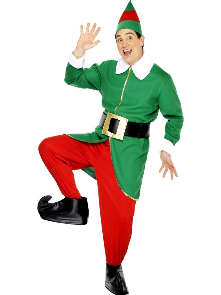 Elf Costume, Green and Red, Jacket, Trousers, Hat, Belt and Bootcovers, We supply a wide variety of Christmas Adults Costume & Accessories. Buy online now.....