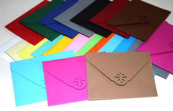 Handmade 20 envelopes for gift cards mini envelope by ramonaignat