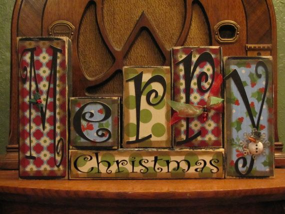 Merry Christmas  Christmas and Winter Sign by PunkinSeedProduction, $36.00