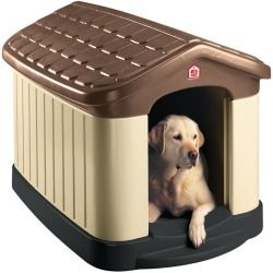 Our Pet's Tuff-N-Rugged Dog House - Insulated Dog House & Plastic Dog HouseHouse your pampered pooch in the Our Pet's Tuff-N-Stuff Rugged Dog House. This insulated dog house is specially designed to keep your large furry friend comfortable in both warm and cool weather. The structure is made with high quality plastic dog house materials that are sure to work well for your pet. The stylish colors and detailing will look great in any outdoor space. Dogs that spend a lot of time outside need an…