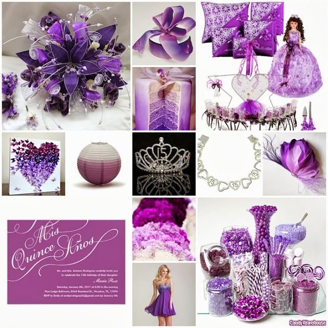 Ombre Purple Quinceanera Sweet Fifteen Theme