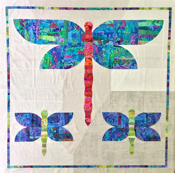 DAZZLE Quilt Pattern by Colourwerx  According to the 100 Random Facts About the English Language - a group of dragonflies was once known as a