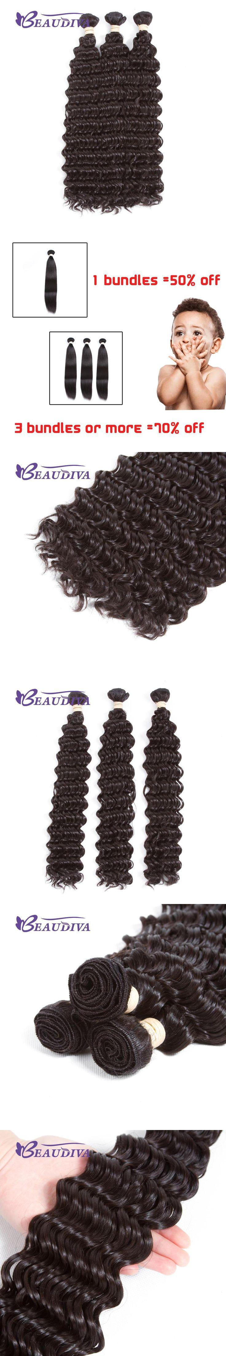 Beaudiva Brazilian Deep Wave Hair Human Hair Bundles #2 Machine Double Weft Remy Hair 8-28inch Human Hair Extensions