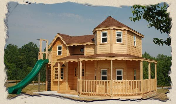 Awsome play house!: House Front, Awsom Plays, Awsom Playhouse, Insanity Playhouse, Trees Housesplay, Trees House Plays, House Plays House Outdoor, Plays Sets, Housesoutdoor Structures