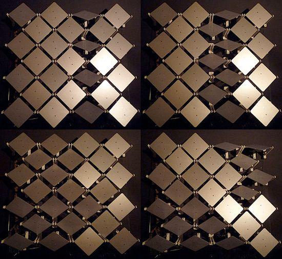 Interactive facade shifts to ensure optimal light with shifting sun