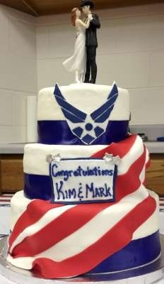 Air Force Wedding Cake