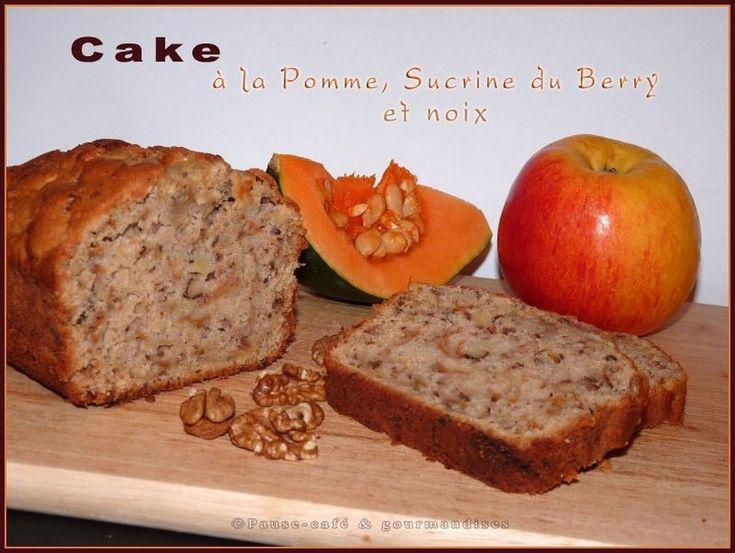 Cake à la pomme, sucrine du Berry et noix