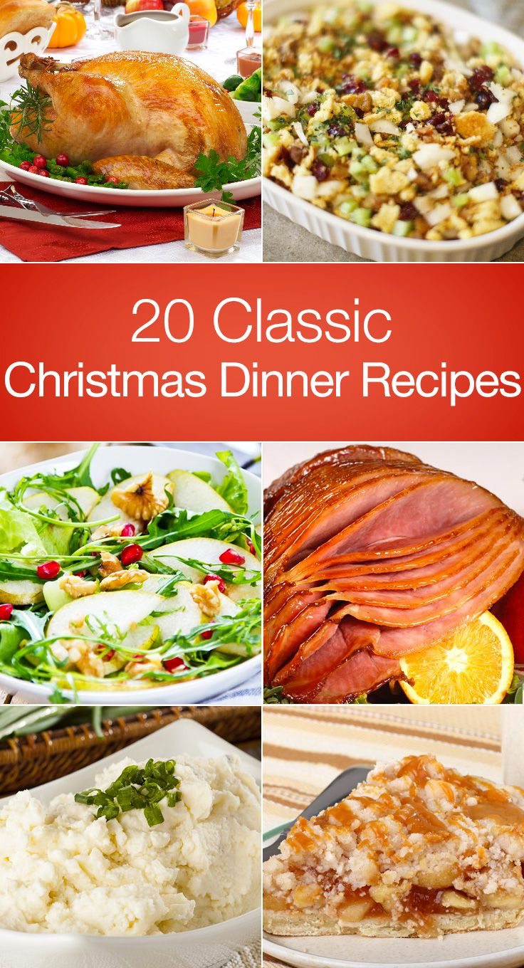 Impress you guests this year with a classic Christmas feast. Here're 20 delicious dishes worth including in your menu.  1. Good Eats Roast Turkeykitchme.comM