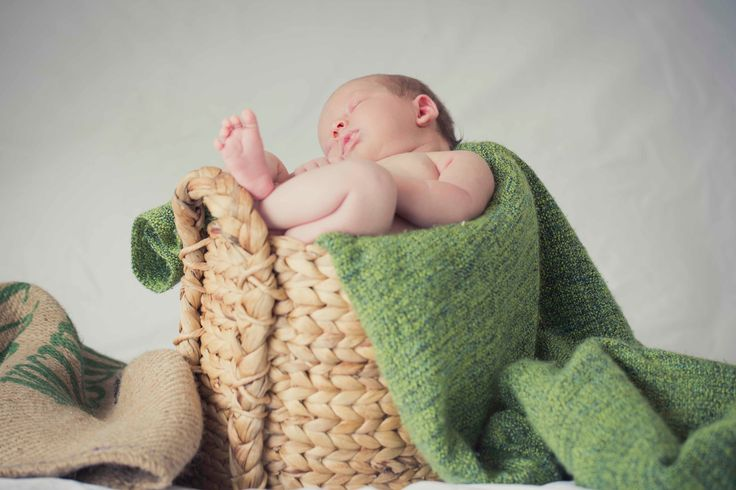 Cane basket newborn photos