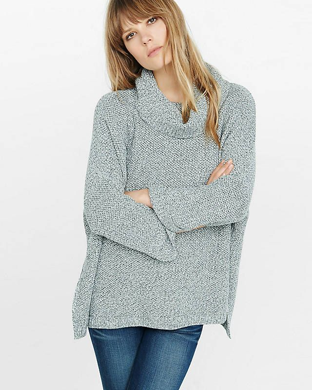 Marl Cowl Neck Boxy Sweater from EXPRESS