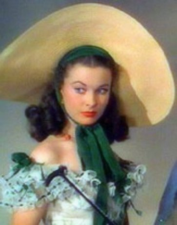 A painting of Vivien Leigh as Scarlett O'Hara by Mademoiselle Lavender