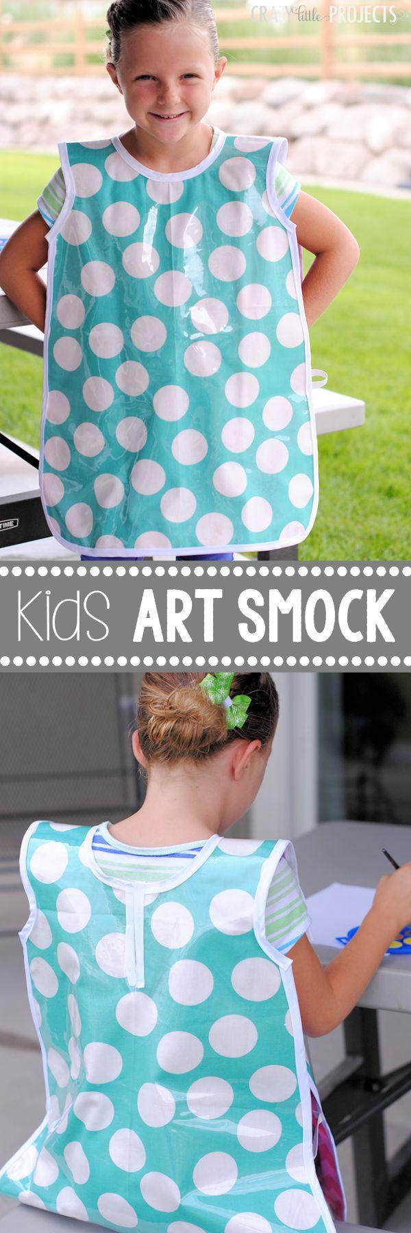 Kid's Art Smock Pattern and Tutorial