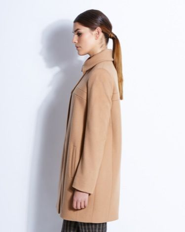 Camel-coloured Chiara coat from Paul Costelloe Living Studio