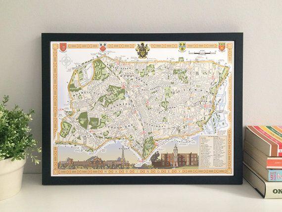 Haringey Borough illustrated map giclee print by thisismikehall