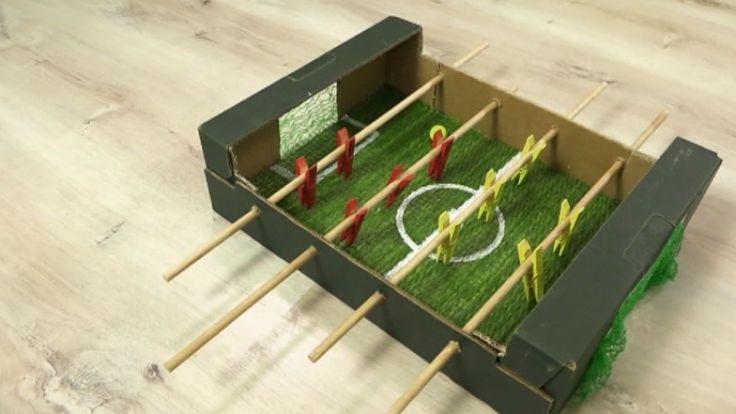 Spiele selber machen: Angelspiel und Kicker basteln