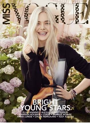 Sneak peek of the first issue of Miss Vogue print with Elle Fanning on the cover
