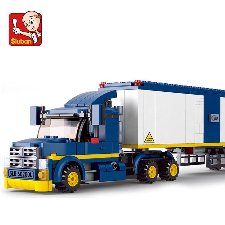 (28.49$)  Know more - http://aip7t.worlditems.win/all/product.php?id=32735970135 - Sluban model building kits compatible with lego city truck 580 3D blocks Educational model & building toys hobbies for children