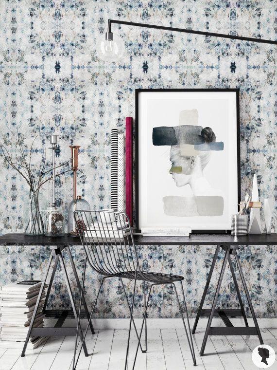Diamond Pattern Removable Wallpaper Kaleidoscope Self by Livettes